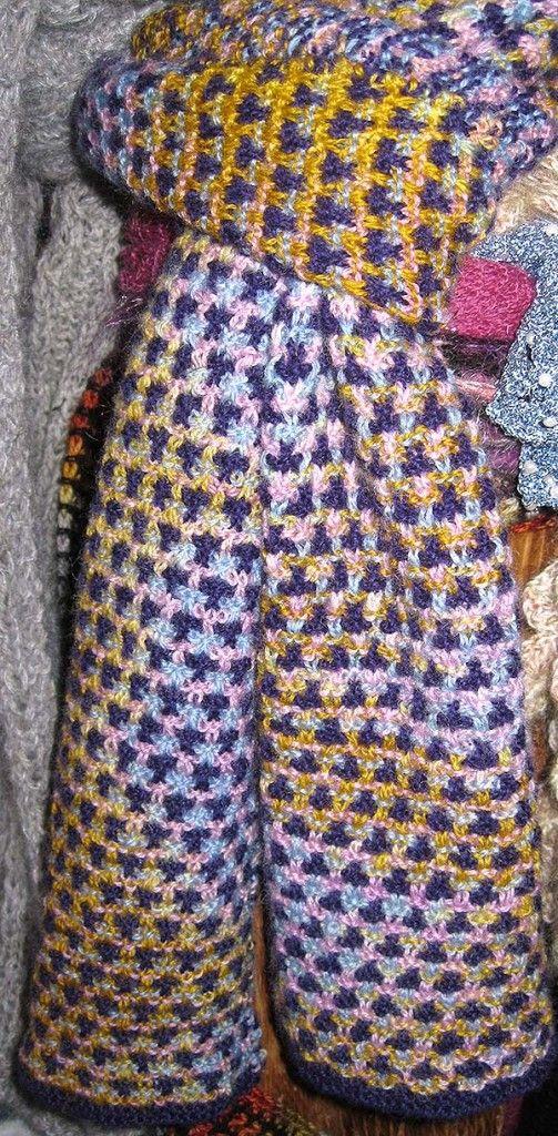 vævestrik tørklæde