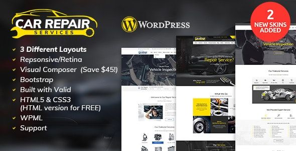 Car Repair Services Auto Mechanic Wordpress Theme V2 8 Car Repair Service Auto Repair Car Mechanic