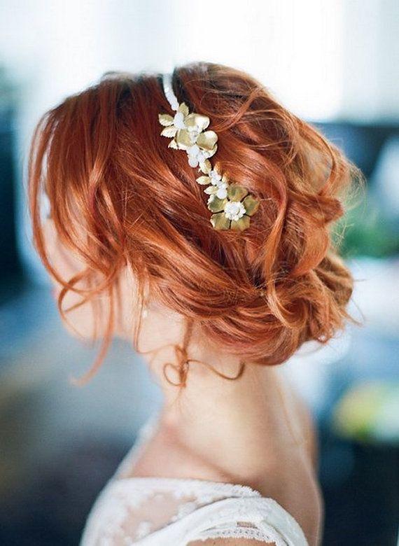 Aphrodite bruids hoofdband gouden hoofdband door SautoirEtPoudrier