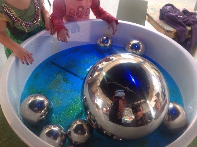 These stainless steel metal balls are a wonderfun, open ended resource.