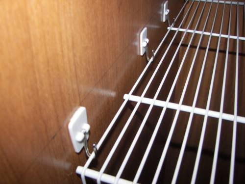 Hang a shelf, basket or anything in your RV with these Command hooks