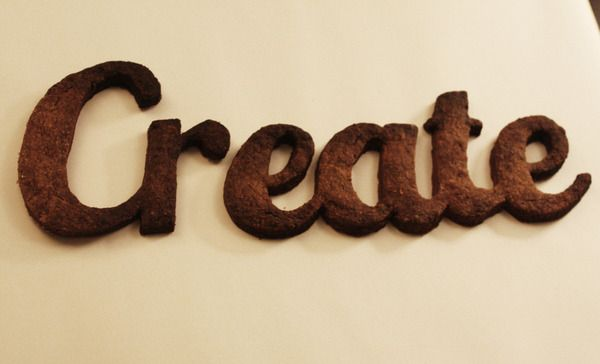 Edible Typography Experiment by Helen Tyas, via Behance