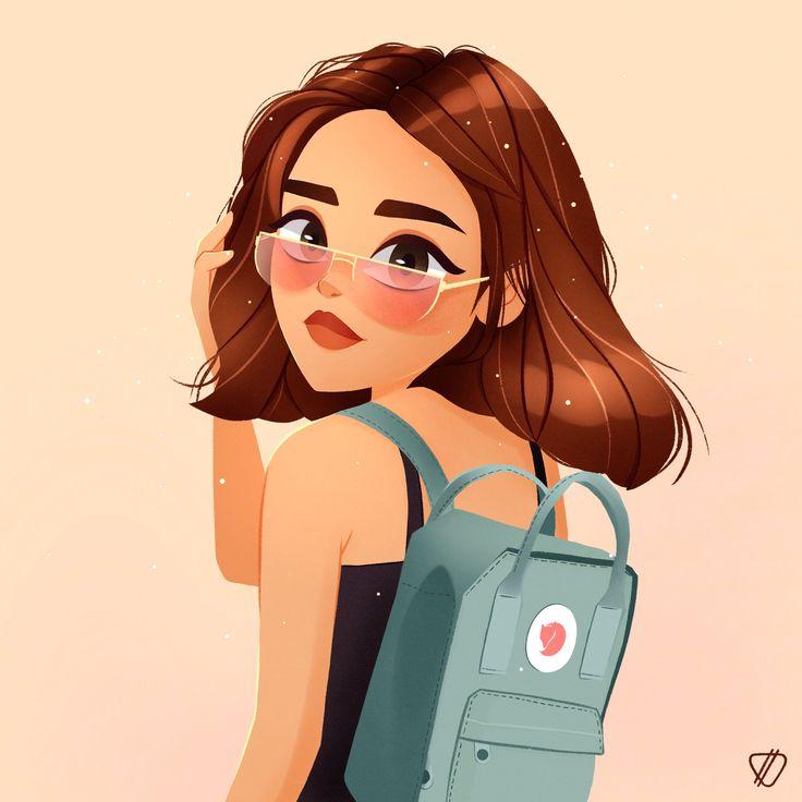 Pin by sude on procreate illustrations girls cartoon art