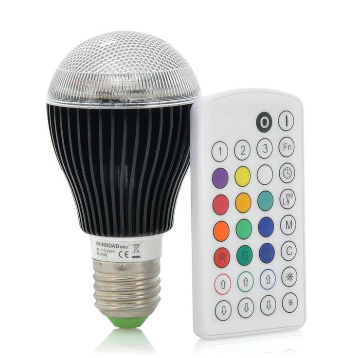 Bec LED RGB cu telecomanda http://www.gadgetworld.ro/bec-led-rgb-cu-telecomanda.html