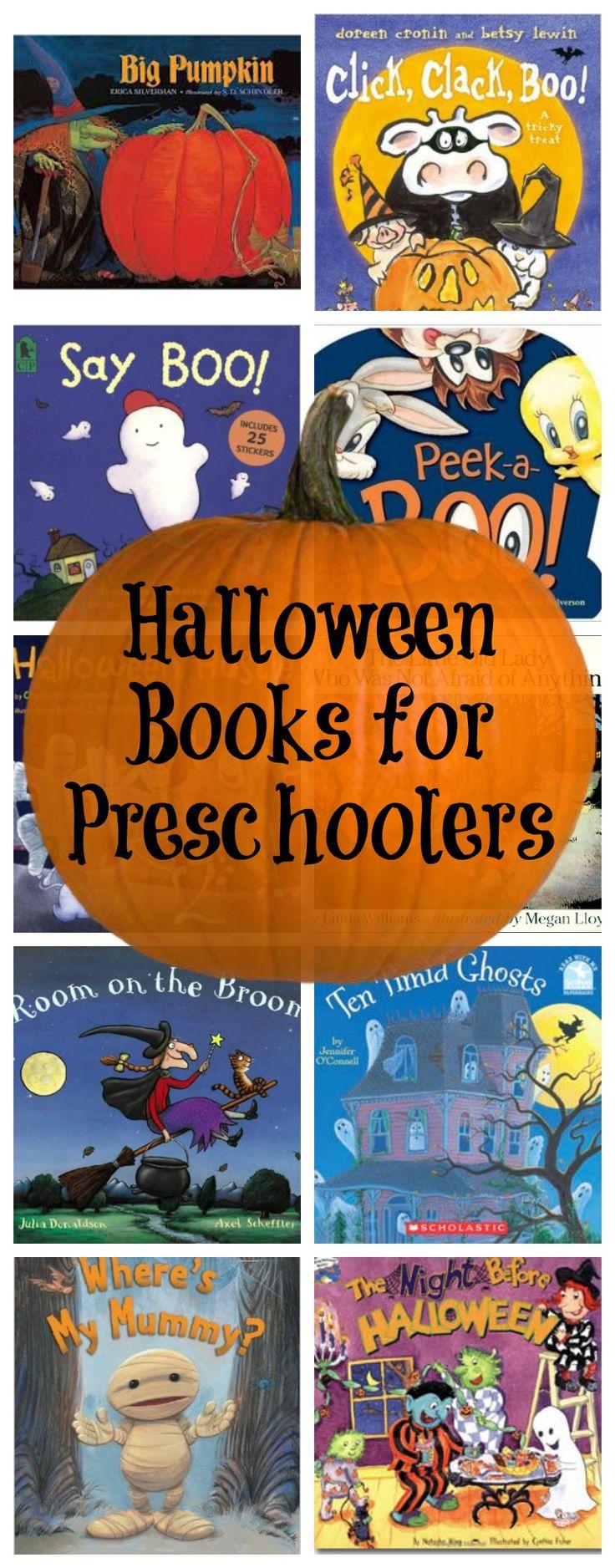 Halloween Books for Preschoolers - not all classics, but a good list!