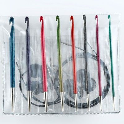 As soon as I learn to do Tunisian crochet a little better, I need to buy this set of crochet hooks.  Just beautiful!