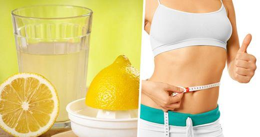 perdere peso acqua limone