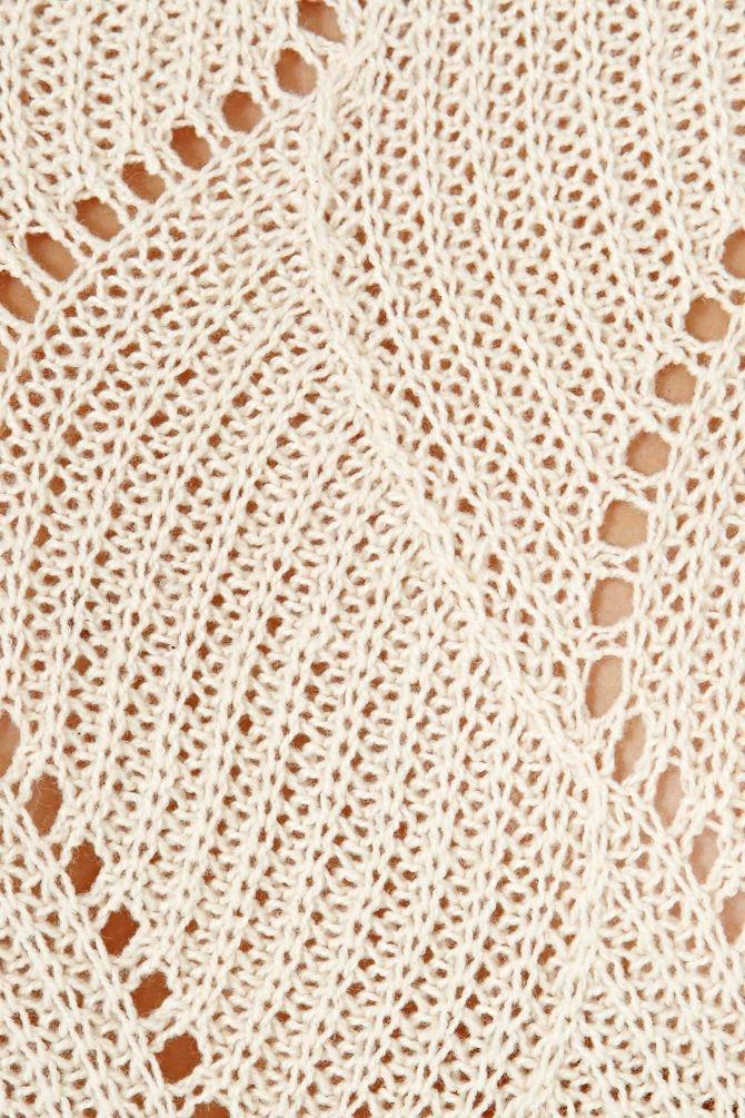 lace stitch pattern - making this now - Upstairs pattern on Rav.