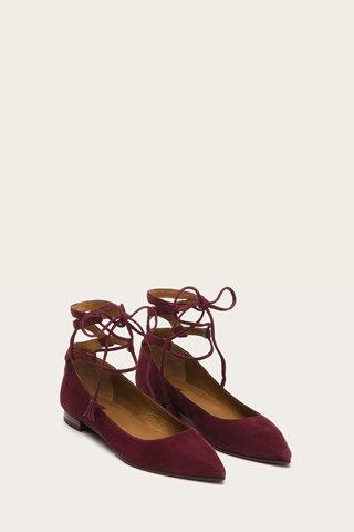 Sienna Ghillie Suede Ballet plano para mujer, Taupe oscuro, 7 M US