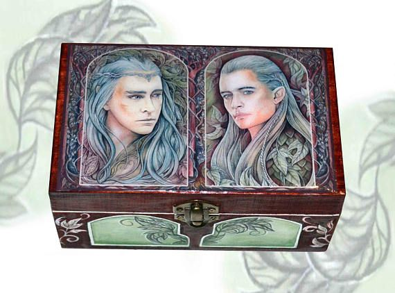 Elven king and prince  jewellery box jewellry storage