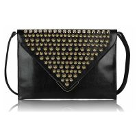 Golden studs clutch, evening clutch, women's clutch fashion www.outfit-online.ro for more!