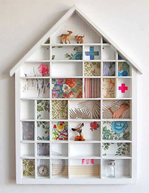 house-shaped tiny boxes filled with little goodness
