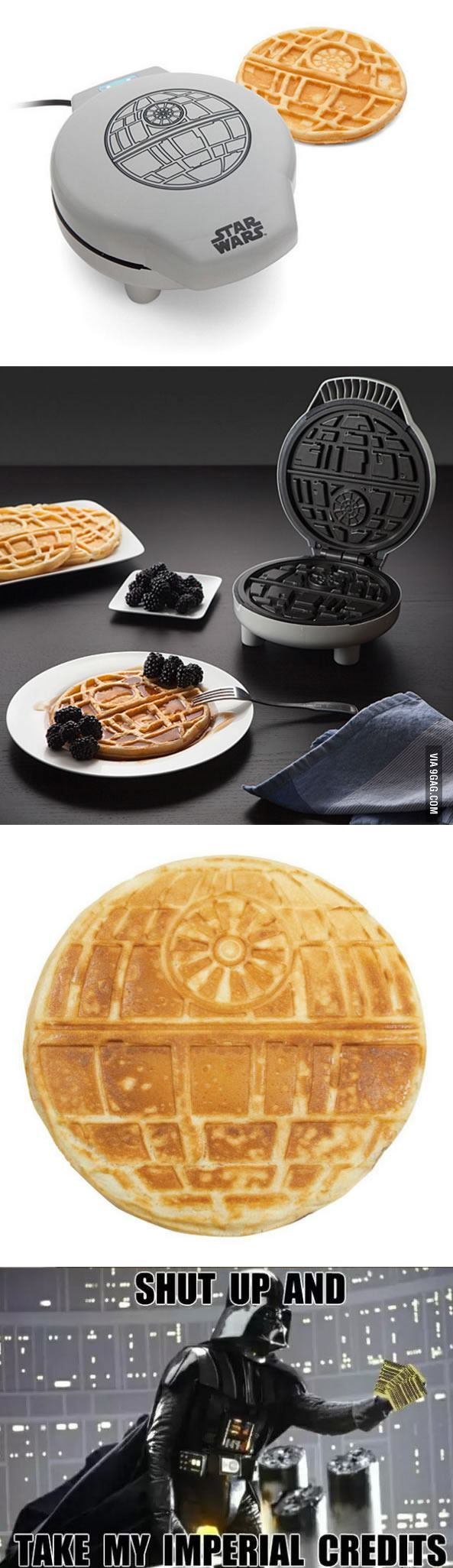 Star Wars Waffle Maker That Bakes Death Stars For Breakfast