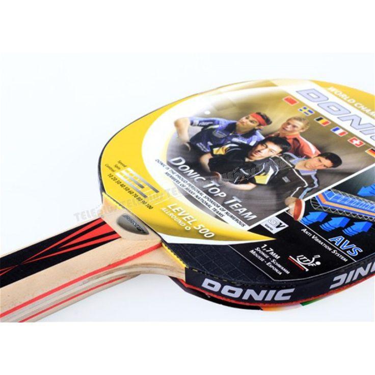 Donic Top Team 500 Masa Tenisi Raketi ve Topu - ITTF ( Uluslararası Masa Tenisi Federasyonu ) Onaylıdır.  Raketin Sap kısmında anti titreşim önleyici sistem bulunmaktadır.  Raket, 5 kat vario tahtasından oluşmaktadır.  Sünger kalınlığı 1,8 mmdir. - Price : TL42.00. Buy now at http://www.teleplus.com.tr/index.php/donic-top-team-500-masa-tenisi-raketi-ve-topu.html
