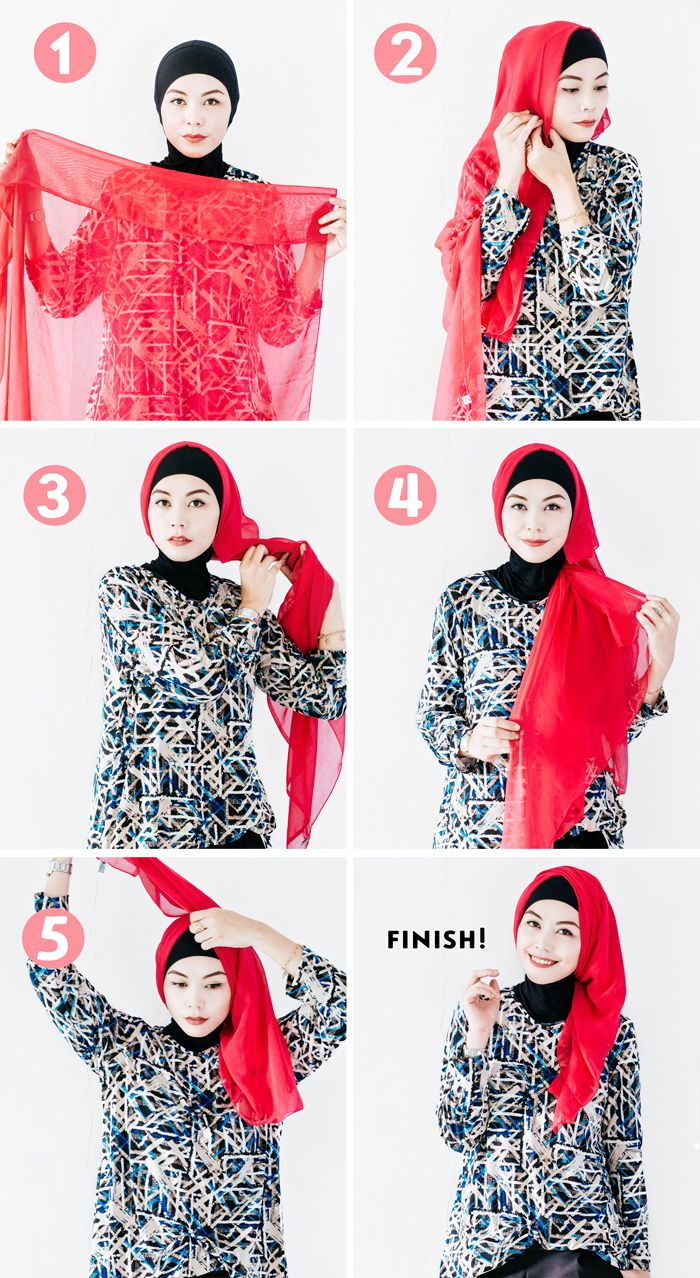 17 Best Images About Hijab On Pinterest Square Hijab Tutorial