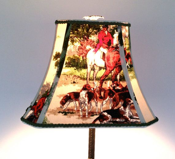 Fox Hunt Lamp Shade Rectangle Bell Lampshade By Lampshadelady In 2018 Pinterest Shades Painting And Lamps