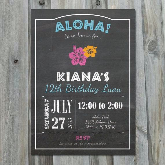 Best 25 Luau Invitations Diy Ideas On Pinterest