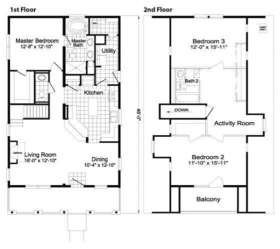 From Palm Harbor Homes · Floor Plan:The Highland
