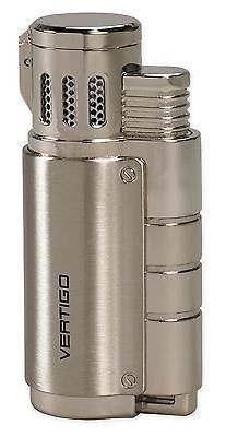 NEW VERTIGO BY LOTUS - BOMBER TRIPLE TORCH #cigar  LIGHTER-LIGHT GUNMETAL! This listing is for a Light Gunmetal Vertigo Bomber - Triple Torch Flame Cigar or Cigarette Lighter. Designed with value in mind, Vertigo lighters are specifically targeted for  budget minded consumers who don't want to overpay for a quality product.  #cigarlife  #cigardreams   #cigarlighter   Visit our Website:-