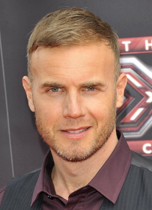 Gary Barlow Brushed Down Hairstyle Photo Gary Barlow