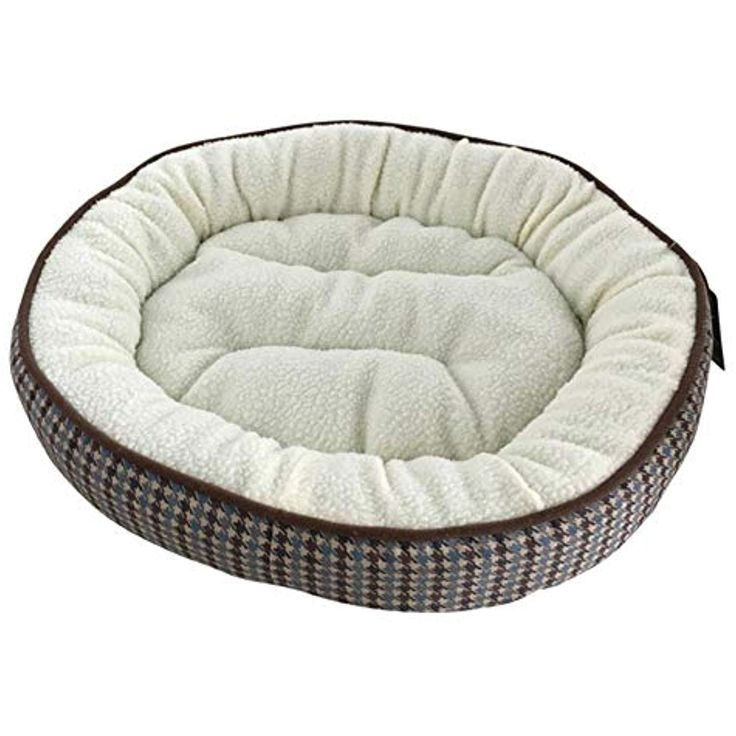 Bibabomax Round Pet Beds For Small Dogs Soft Velvet Puppy