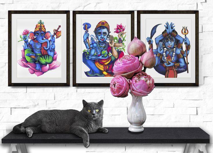 Lotus Print Trio - Shari Mallinson