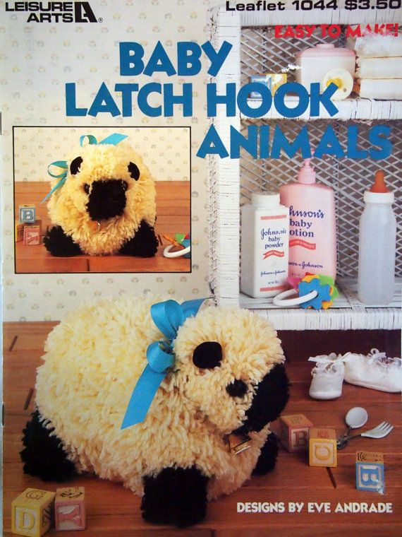 Baby Latch Hook Animals By Eve Andrade Vintage 3D Latch Hook Booklet by NeedANeedle, $14.75