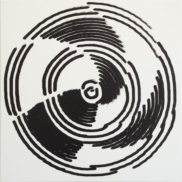 Simon Ingram, No 27, 13 Oct, 2014, sum 1112.629, Oil on linen, 850 x 850mm
