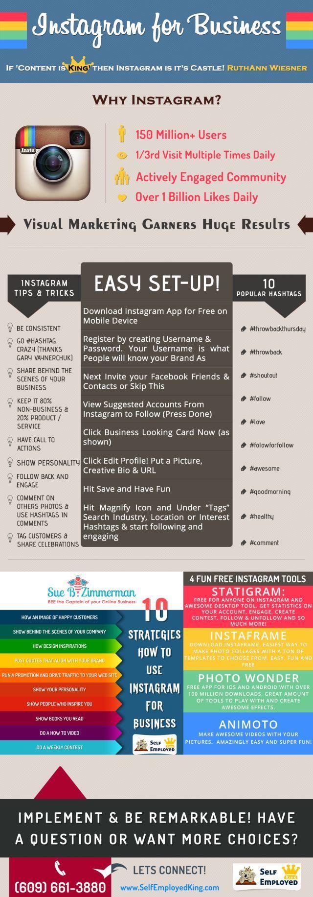 Instagram for business #infografia #infographic #socialmedia