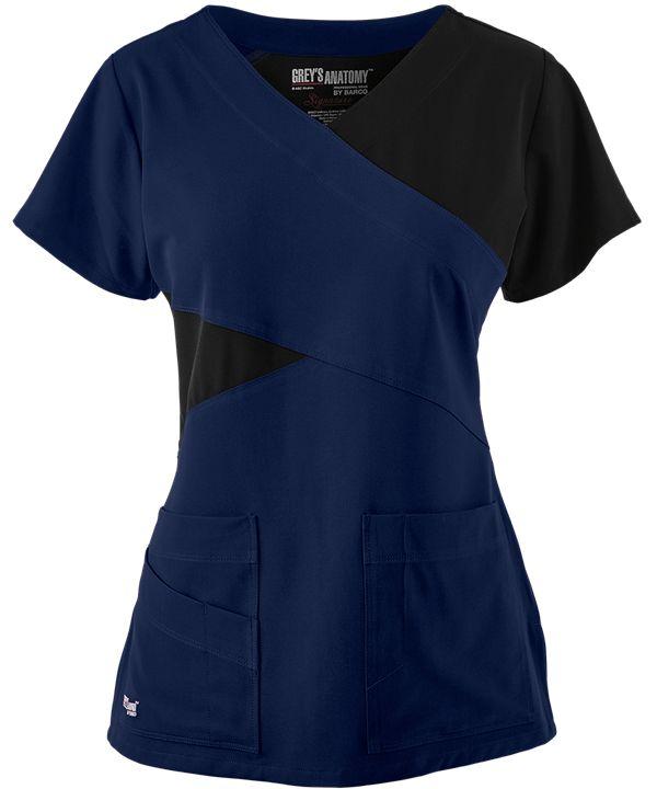 $31.99 Grey's Anatomy Signature 2140 Scrub Top, Stretch Scrubs