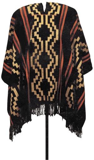 Manta de un Longko (Jefe Mapuche)