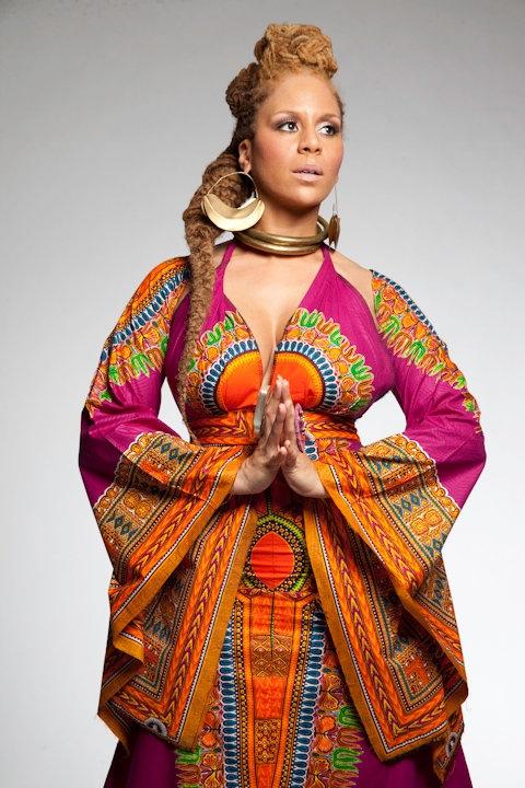 Yewande in a traditional african dress ~African fashion, Ankara, kitenge, African women dresses, African prints, African men's fashion, Nigerian style, Ghanaian fashion ~DKK