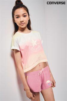 Converse Multicolour Ombre Cropped T-Shirt