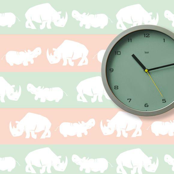 tapeta nosorožci a hroši, zvířátka, zelená, losososvá