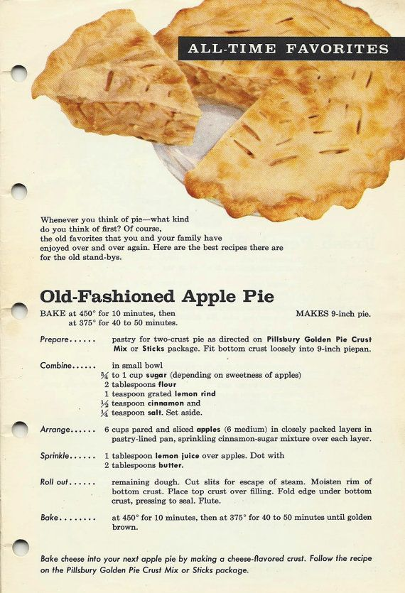 Vintage Cookbook Fabulous Pies from Pillsbury~~