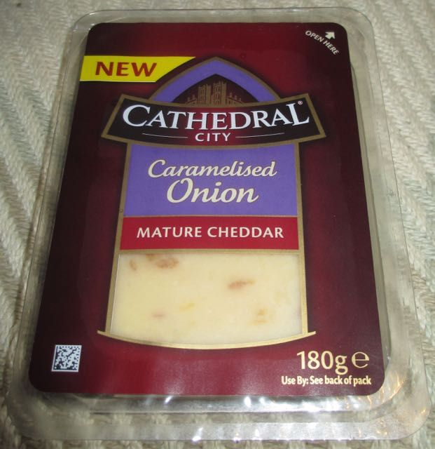 FOODSTUFF FINDS: Cathedral City Caramelised Onion Mature Cheddar (Sainsburys) [By @Cinabar]