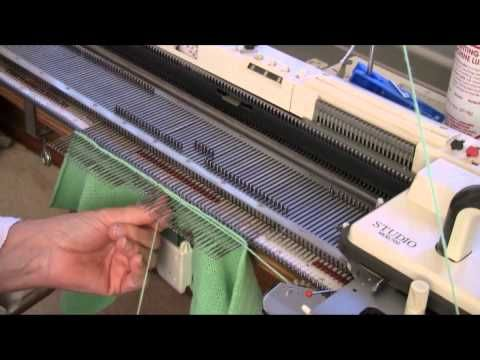 Set-In Sleeve Machine Knitted Upside Down by Diana Sullivan - YouTube