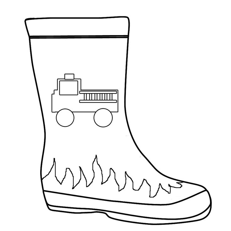 lego firefighter coloring pages fire engine with fire boot outline for colouring in - Firefighter Coloring Pages