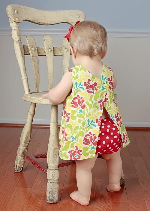 Sewing: Reversible Open Back Baby Dress