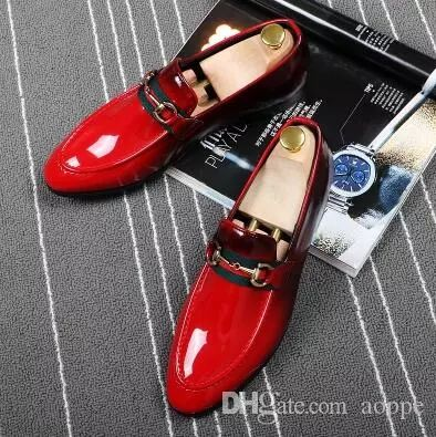 2018 Fashion Studded Men'S Casual Loafers Genuine Leather Dress Shoes Italy Style Man Party Wedding Shoes 4 Scholl Shoes Silver High Heels From Aoppe, $48.03| Dhgate.Com