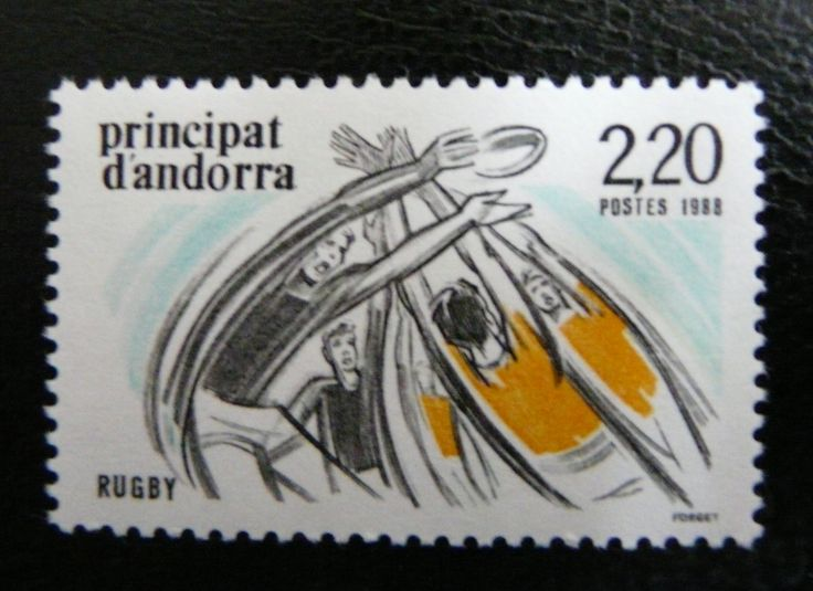 Andorra 1988 - For more #rugby collectables check out my blog: http://www.rocky-rugby.com/
