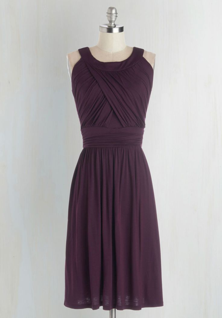 So Happy to Gather Dress in Plum. What's better than a hang sesh with pals? #purple #modcloth