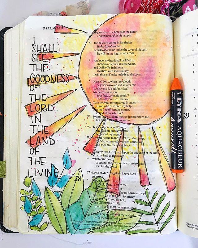 Bible Journaling by Grace Veenker @graceveenker | Psalm 27:13
