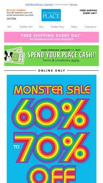 3d46444f4 DON'T MISS THIS MONSTER SALE! 60% TO 70% OFF ALL CLEARANCE + FREE ...
