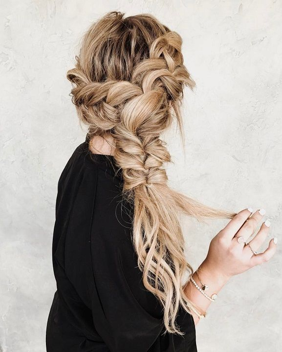 Easy and Chic Hairstyles for Long Hair,Braided and fishtail hairstyle ideas for long hair