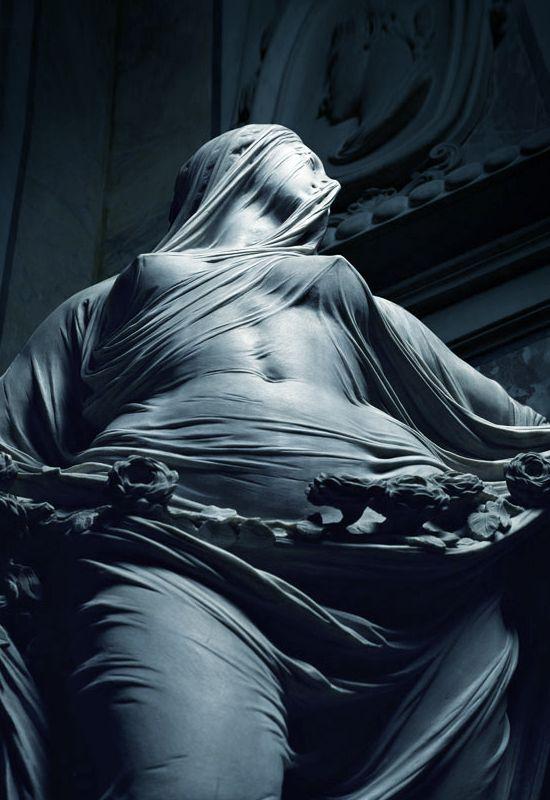 Antonio Corradini (1688-1752) – Modesty,1749-52 ● Marble, height 195cm ● Santa Maria della Pietà dei Sangro, Naples, Italy