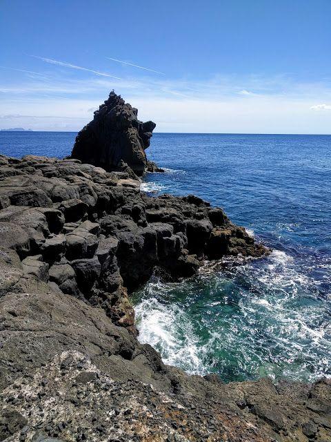 Coastal views near the airport in Funchal, Madeira