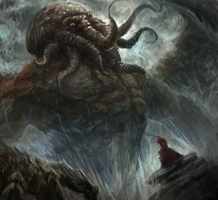 Summoning By Inkyh Cthulhu H.P. Lovecraft Monster Beast