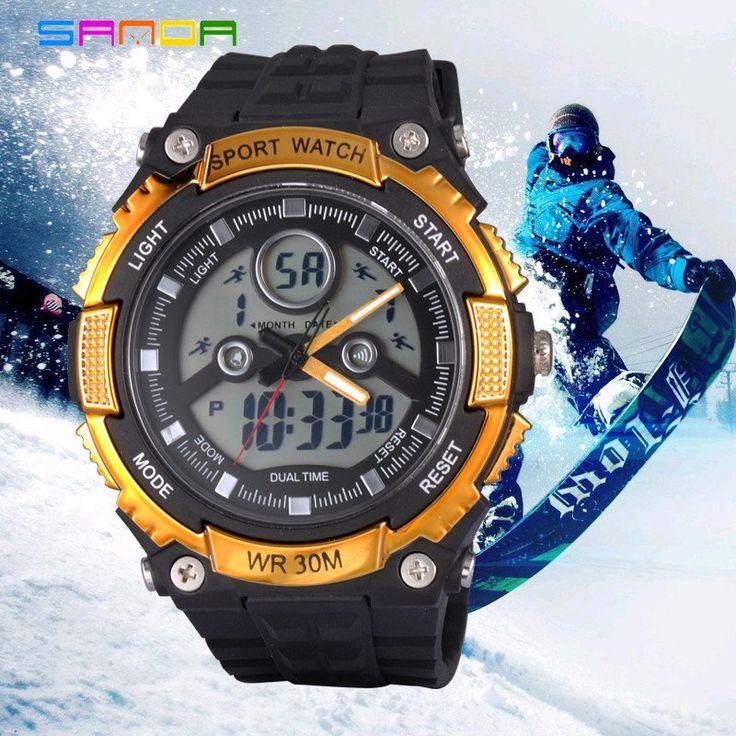 SANDA SD709 Men's Dual Display Waterproof Sports Watch