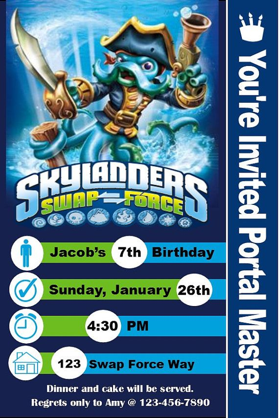 Hey, I found this really awesome Etsy listing at https://www.etsy.com/listing/174337890/skylanders-invitation-and-thank-you